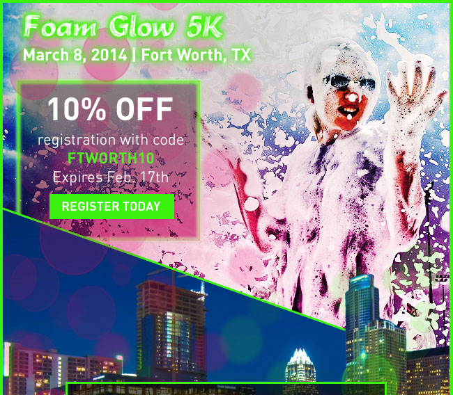 Foam glow coupon code 2019
