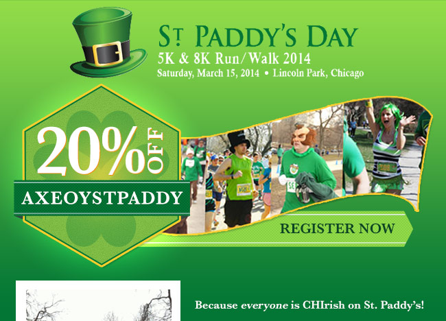 End of year sale 20 off st paddy s day 5k 8k http www active