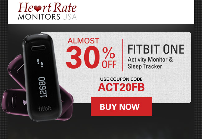 Save Almost 30%, use coupon code: ACT20FB - http://www.heartratemonitorsusa.com/fitbit-one-both.html