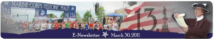 MCM Historic Half Newsletter March 2011