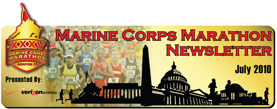 Marine Corps Marathon Newsletter - July 2010