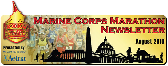 Marine Corps Marathon Newsletter - August 2010