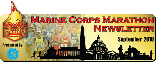 Marine Corps Marathon Newsletter - September 2010
