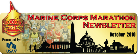 Marine Corps Marathon Newsletter - October 2010