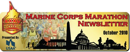 Marine Corps Marathon Newsletter - October 2010