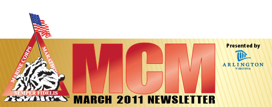 Marine Corps Marathon Newsletter - March 2011