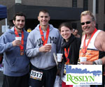 Celebrating the Finish in Rosslyn