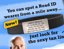 THE WRIST ID SLIM: How to spot a Road ID Wearer: Just look for the tan line!