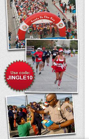 Save 10 percent on Santa To The Sea! Code: JINGLE10, http://www.active.com/half-marathon/oxnard-ca/santa-to-the-sea-2012